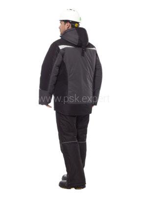 Куртка «Дэлф» серый/черный