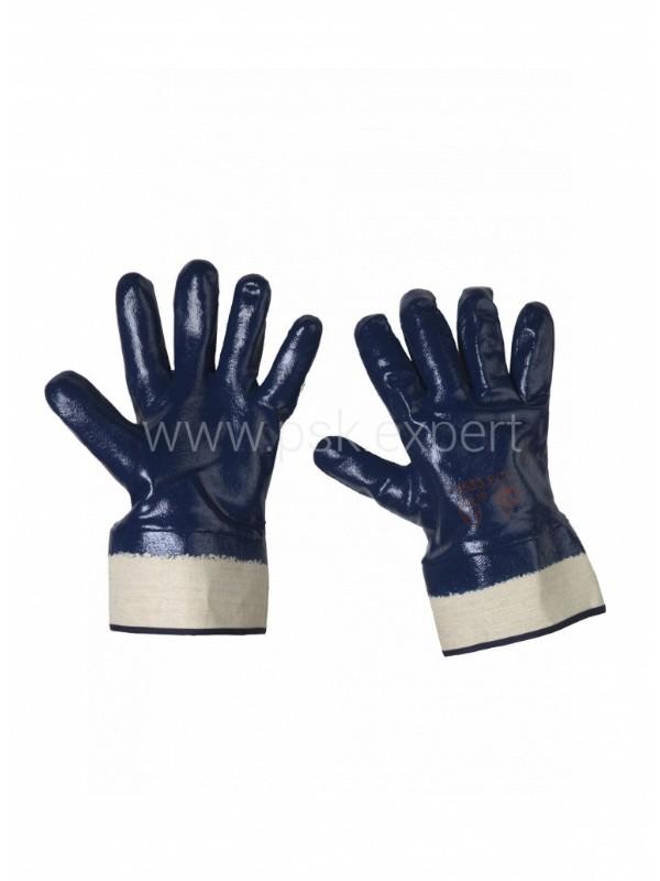 Перчатки нитриловые обливные твердый манжет,