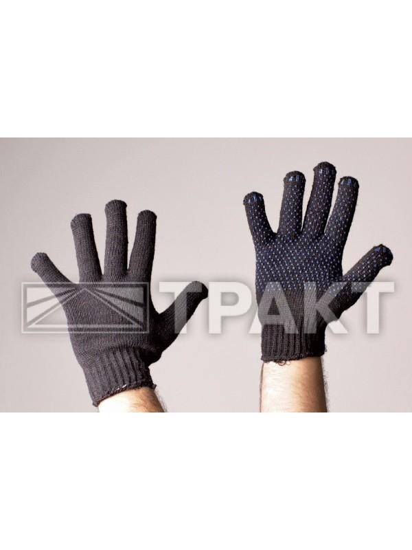Перчатки трикотажные утепленные двойные с ПВХ