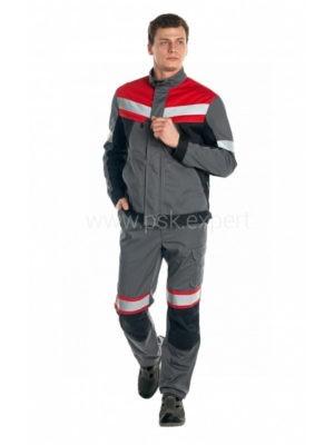 Костюм рабочий мужской летний «Памир 1» цвет серый/черный/красный