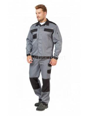 Костюм рабочий мужской летний «Умелец 1» цвет серый/черный