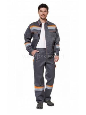 Костюм рабочий мужской летний «Комфорт 1» цвет оранжевый/серый