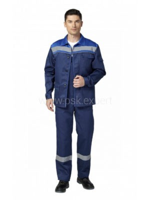 Костюм рабочий мужской летний «Профи 2» цвет василек/темно-синий