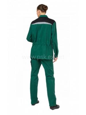 Костюм рабочий женский летний «Алатау» цвет черный/зеленый