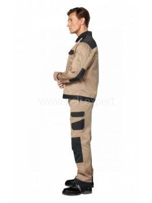 Костюм рабочий мужской летний «Умелец 1» цвет черный/бежевый