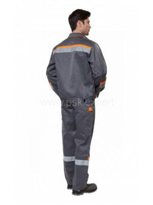 Костюм рабочий мужской летний «Комфорт 2» серый/оранжевый