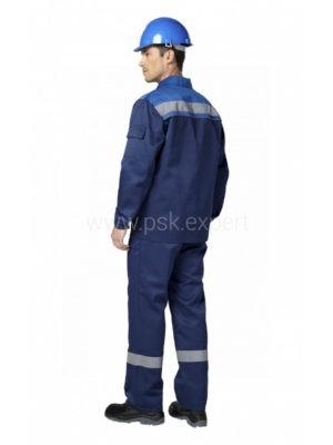 Костюм рабочий мужской летний «Профи 1» цвет василек/темно-синий