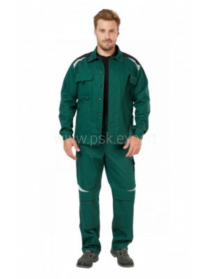 Куртка рабочая мужская летняя «Алатау» цвет зеленый/черный