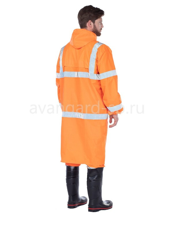 """Плащ влагозащитный с СОП """"Triton extra"""" оранжевого цвета"""